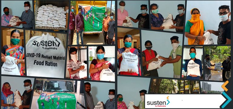 Mahindra Susten contributes to COVID-19 relief efforts - Mahindra Susten