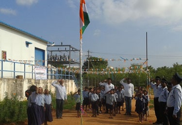 Independence Day Celebration with Local Communities - Mahindra Susten